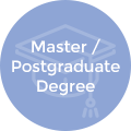 Master or Postgraduate degree