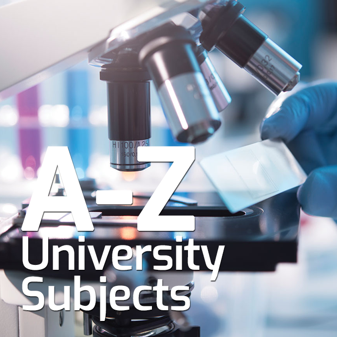 A-Z List of University Subjects